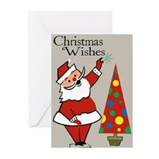 Vintage Christmas Cards With Santa (Pkg of 10)