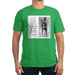 Sitting Bull Quote Men's Fitted T-Shirt (dark)