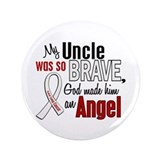 "Angel 1 UNCLE Lung Cancer 3.5"" Button"