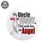"Angel 1 UNCLE Lung Cancer 3.5"" Button (10 pack)"