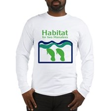 Habitat for two Manatees Long Sleeve T-Shirt