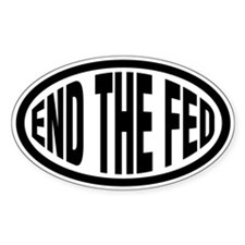 End The Fed Oval Sticker (50 pk)