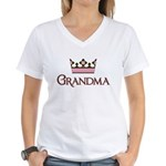 Queen Grandma Women's V-Neck T-Shirt