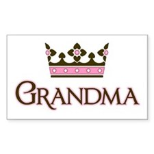 Queen Grandma Rectangle Decal