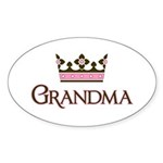 Queen Grandma Oval Sticker (10 pk)