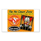 Clowns are Humor Challenged Decal