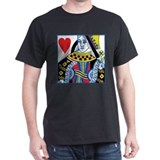 Queen of Hearts Black T-Shirt