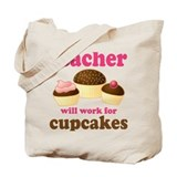 Funny Cupcake Teacher Tote Bag