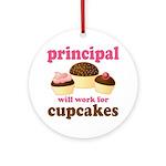 Funny Principal Ornament (Round)