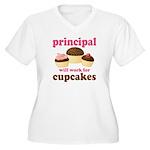 Funny Principal Women's Plus Size V-Neck T-Shirt