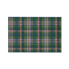 Green Plaid Rectangle Magnet