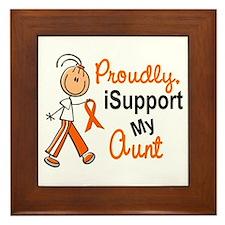 iSupport My Aunt SFT Orange Framed Tile