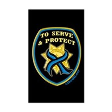 Thin Blue Line Serve Protect Rectangle Decal
