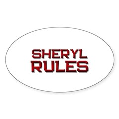 sheryl rules Oval Sticker