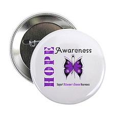 """Alzheimer'sDisease Butterfly 2.25"""" Button"""