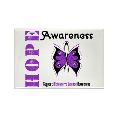 Alzheimer'sDisease Butterfly Rectangle Magnet