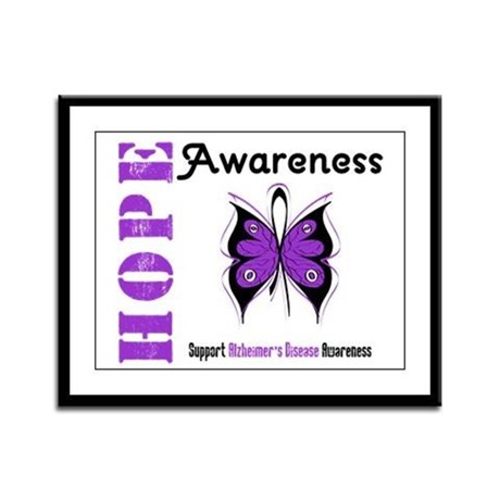 Alzheimer'sDisease Butterfly Framed Panel Print