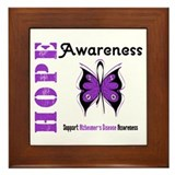 Alzheimer'sDisease Butterfly Framed Tile