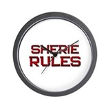 sherie rules Wall Clock