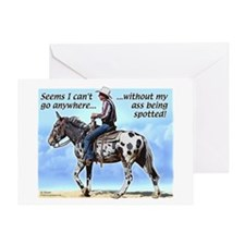 Appaloosa Mule Greeting Card