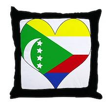 I Love Comoros Throw Pillow
