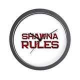 shawna rules Wall Clock