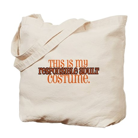 Responsible Adult Costume Tote Bag