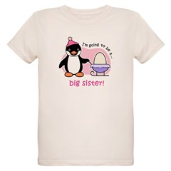 Big Sister to be (Penguin) Organic Kids T-Shirt