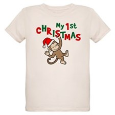 My First Christmas - Monkey T-Shirt