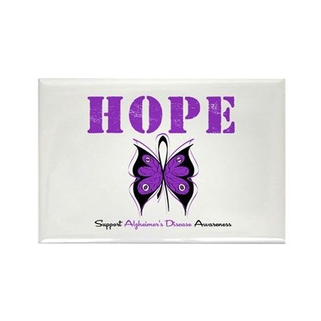 Alzheimer's Hope Rectangle Magnet