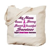 Pink Mom Words Tote Bag