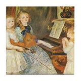 Renoir Girls at Piano Tile Coaster