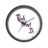 Think About It Wall Clock