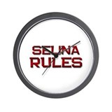 selina rules Wall Clock