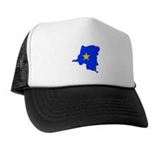 Congo Flag Map Trucker Hat
