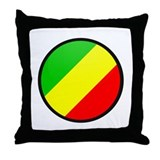 CONGO BRAZZAVILLE Throw Pillow