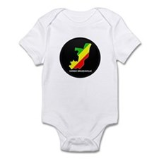 Flag Map of CONGO BRAZZAVILLE Infant Bodysuit