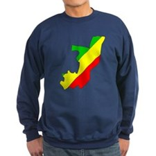 CONGO BRAZZAVILLE Flag Map Sweatshirt