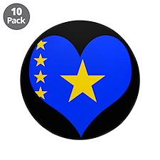 "I love CONGO KINSHASA Flag 3.5"" Button (10 pack)"