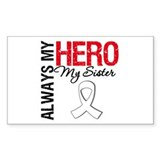Lung Cancer Hero Sister Rectangle Decal