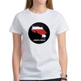 Flag Map of Costa Rica Tee