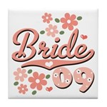 Pretty Pink 09 Bride Tile Coaster