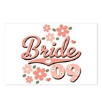Pretty Pink 09 Bride Postcards (Package of 8)