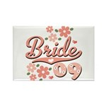 Pretty Pink 09 Bride Rectangle Magnet