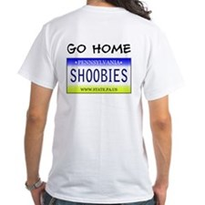 Go home shoobies with full sized front logo