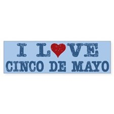 I Love Heart Cinco De Mayo Bumper Bumper Sticker