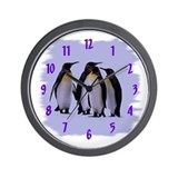 Penguins 4 Wall Clock 10inch