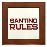 santino rules Framed Tile
