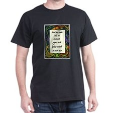 Goodbye forever to the old life Black T-Shirt