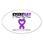 Alzheimer's MissMyNana Oval Sticker (10 pk)
